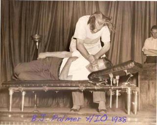 B.J.Palmer side posture 1938